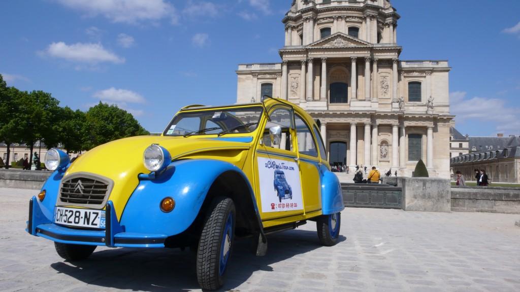 2CVParisTour : Visitez Paris en 2CV! La 2CV, le soleil et les Invalides
